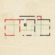 A plan of House C-VL by Graux & Baeyens Architecten