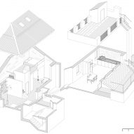 Exploded 3D diagram of House for a Sea Dog in Genoa by Dodi Moss