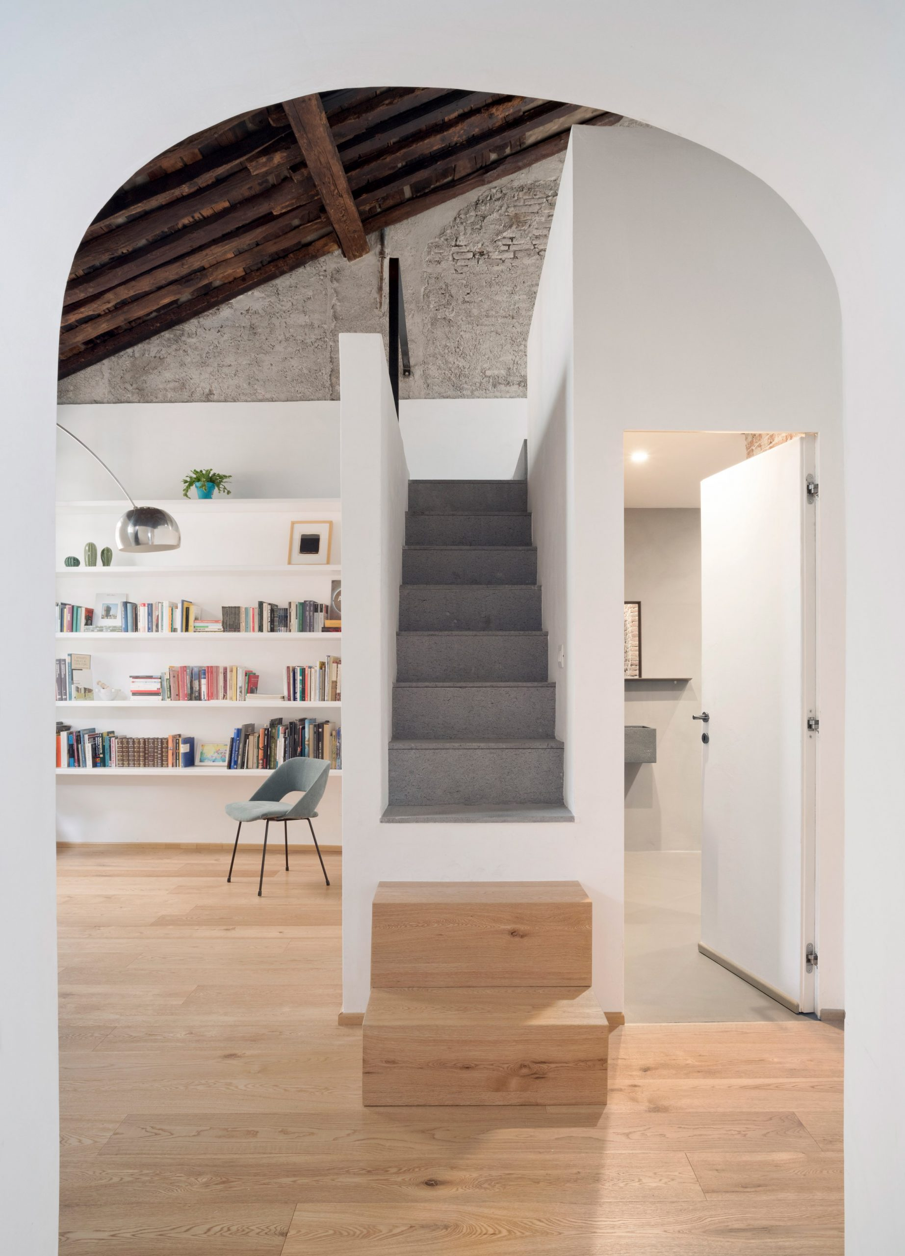 Entrance hallway of House for a Sea Dog in Genoa by Dodi Moss