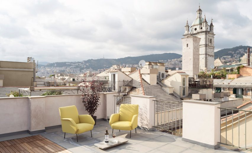 Roof terrace of House for a Sea Dog in Genoa by Dodi Moss