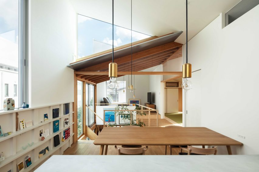 The dining room of a Japanese house