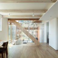 Workspace in Margin House in Japan