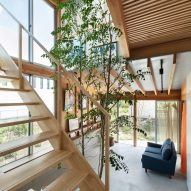 Stairwell of a Japanese house