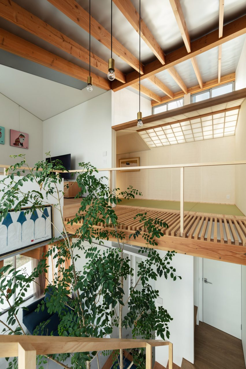 The wooden interiors of Margin House