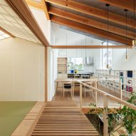 The first floor of Margin House in Japan