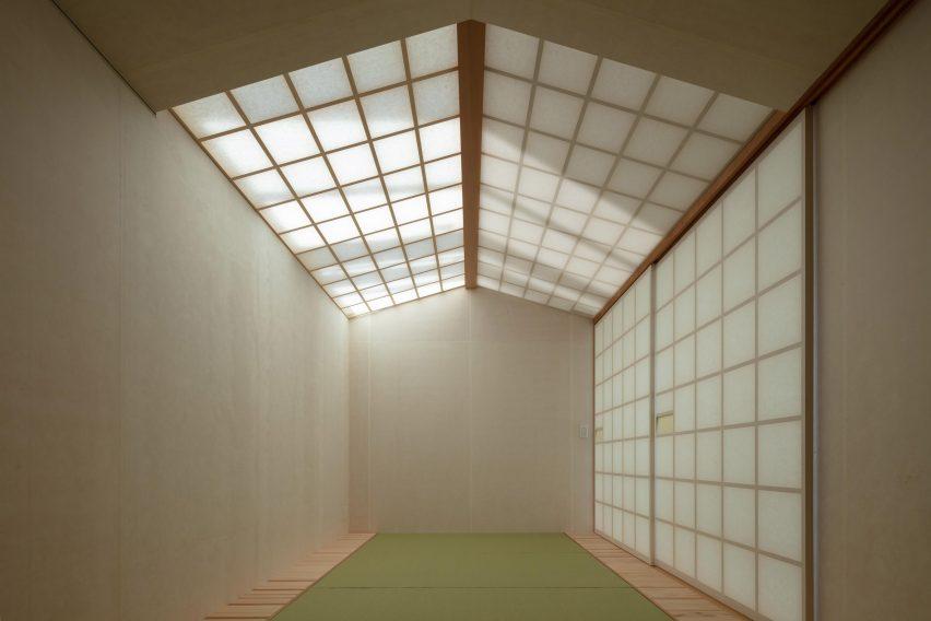 A Japanese tatami room