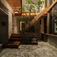 The atrium of Margin House in Japan