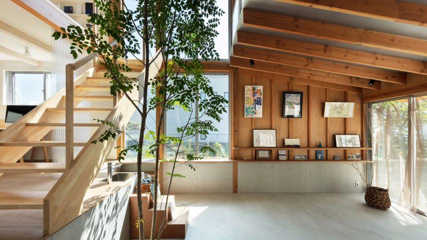 The atrium of a Japanese house