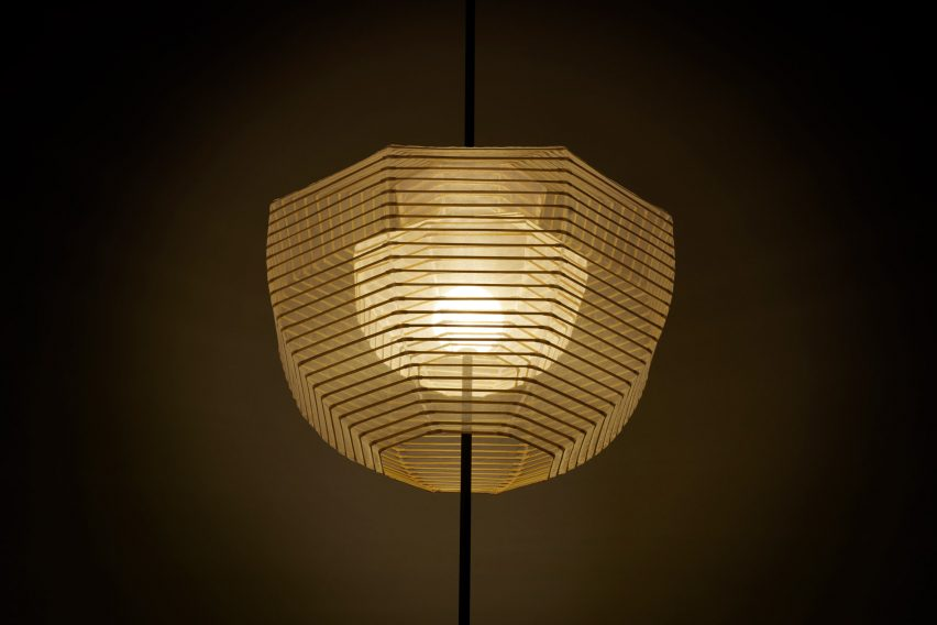 Inside-out lamp by Nendo