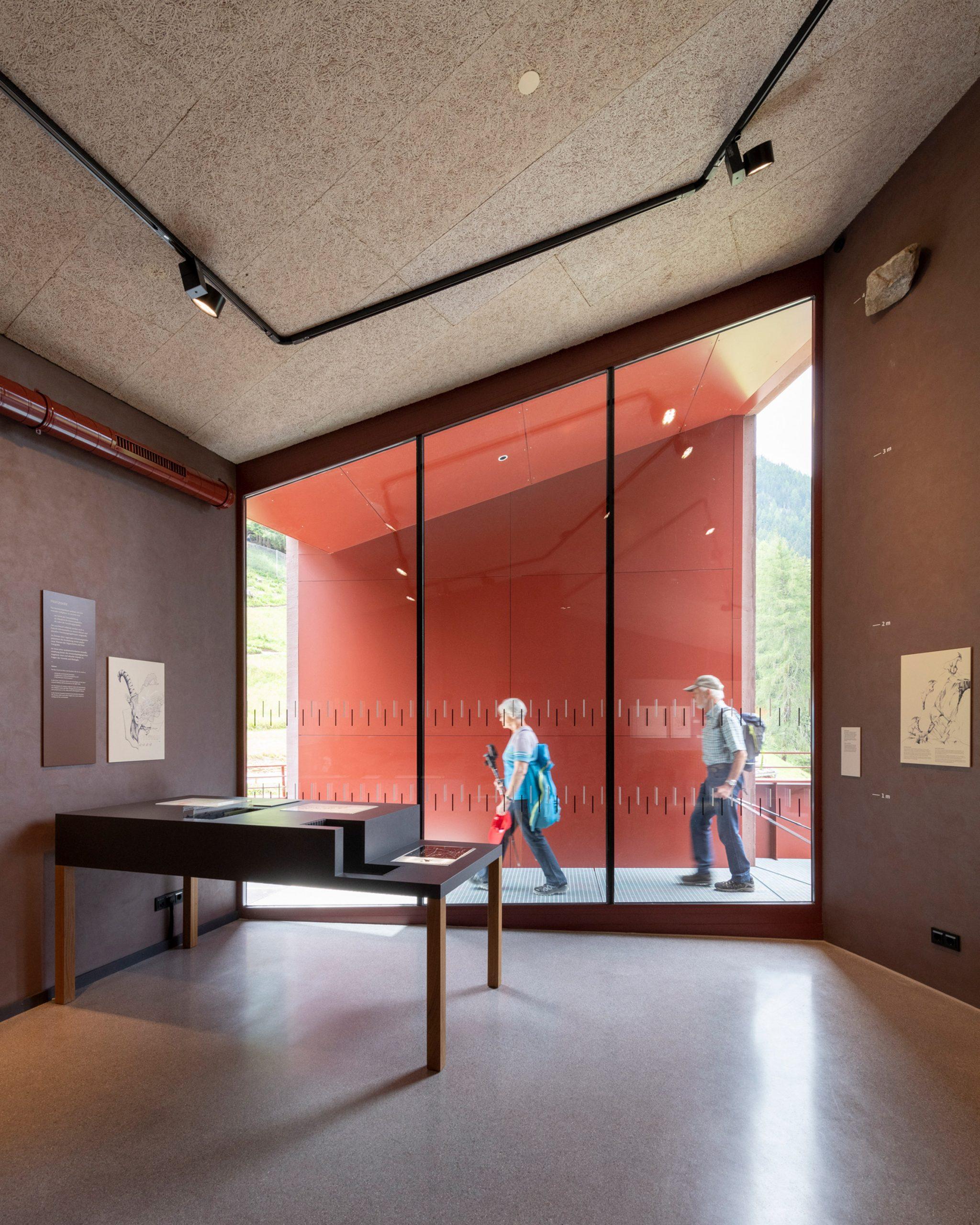 Top floor of Ibex Museum St Leonhard by Daniela Kröss and Rainer Köberl