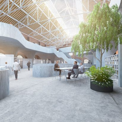 Innovation Hub for Renfe designed by Borja Esparza Pamplona as part of his masters at IE University