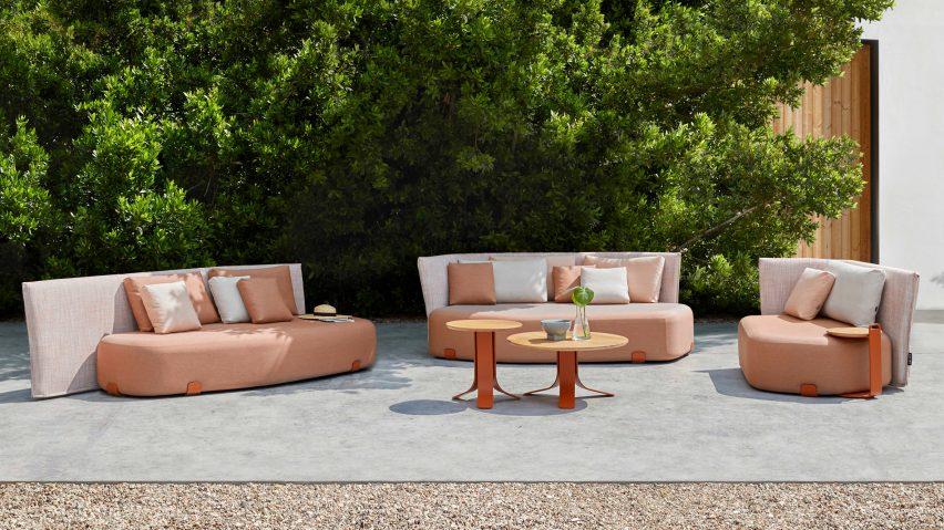 Isla upholstered outdoor seating by Sebastian Herkner