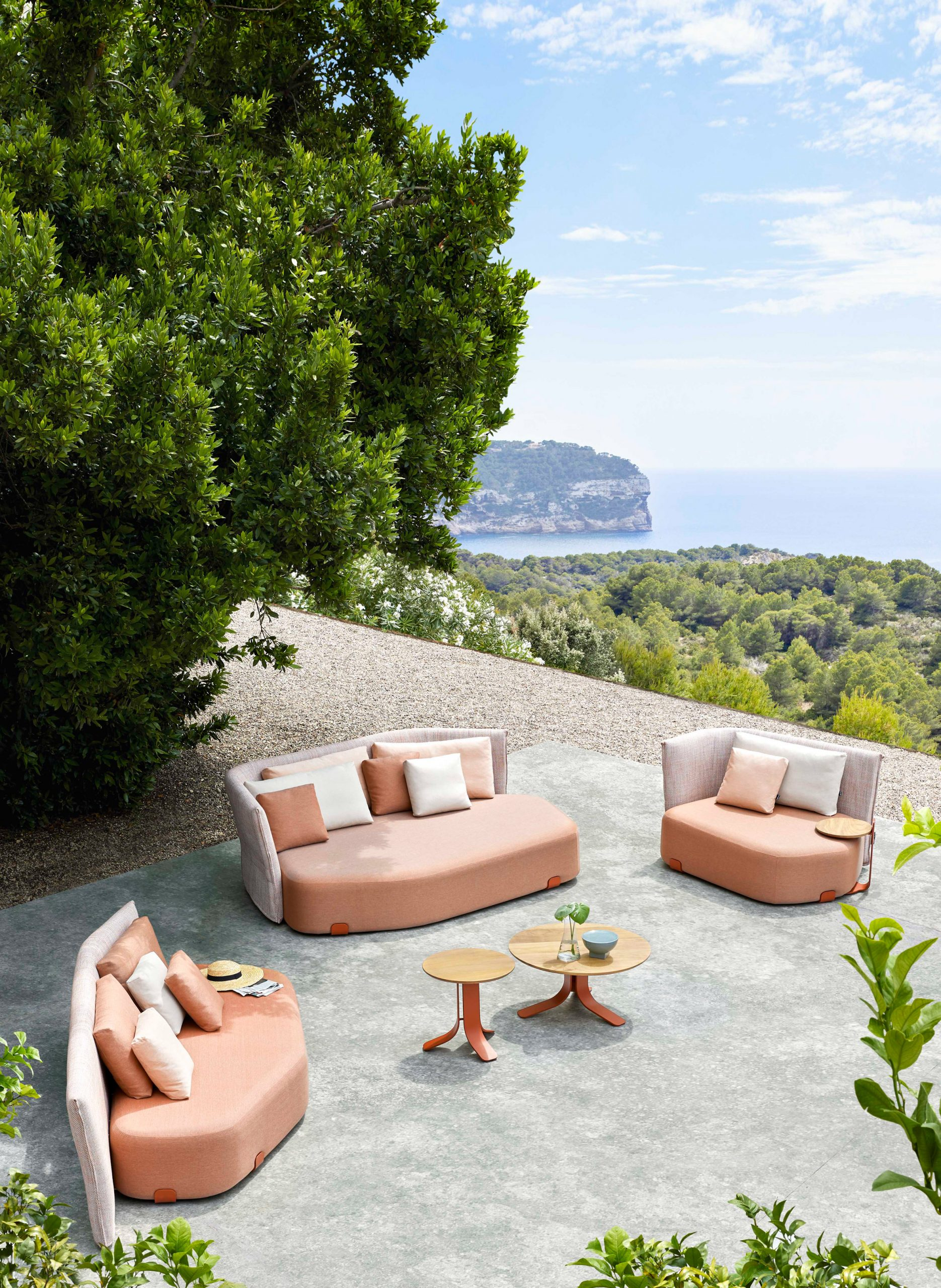 Three different sized seating by Sebastian Herkner for Gan