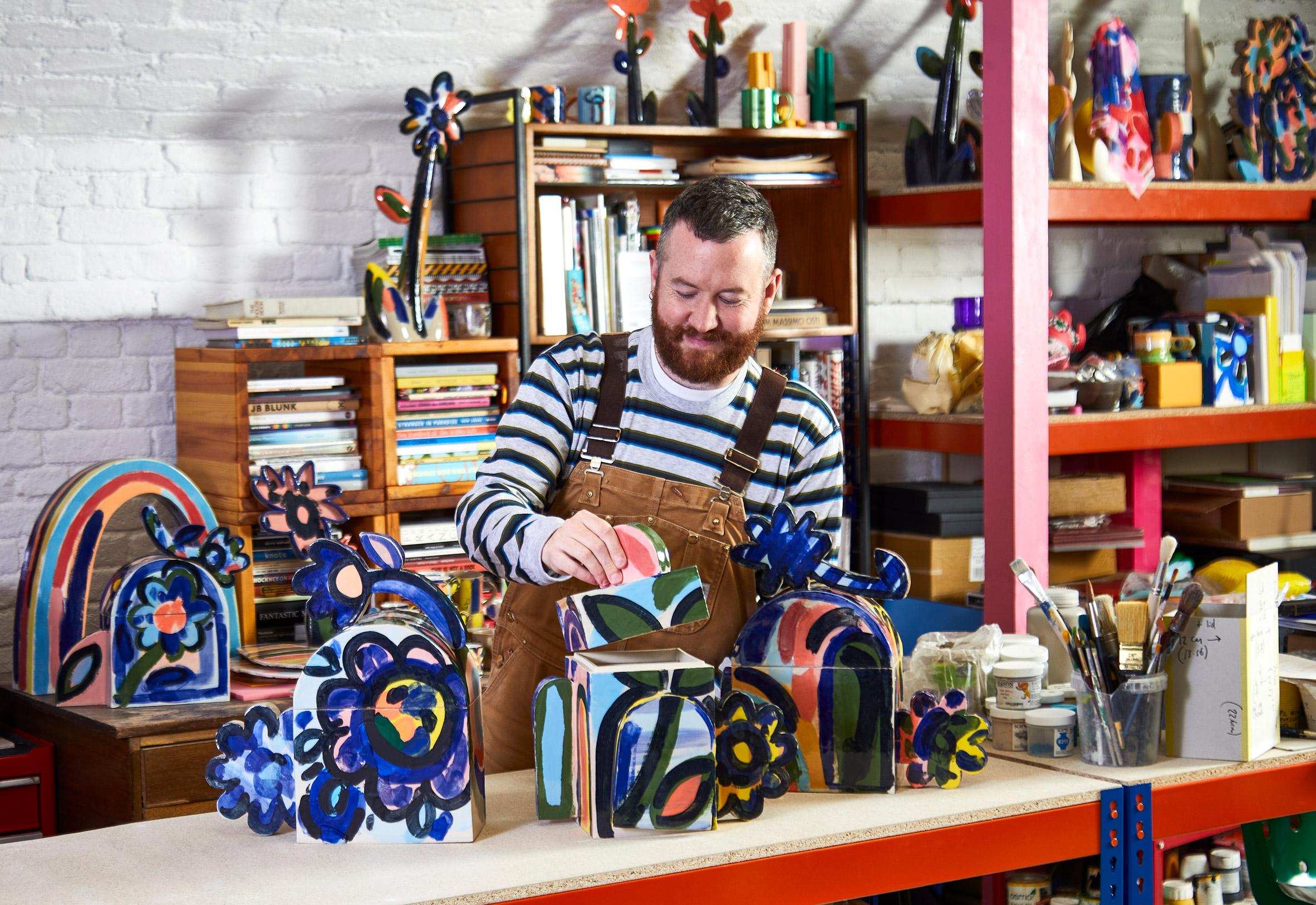 John Booth designing cremation urns