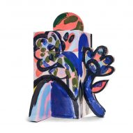 Square colourful cremation urn