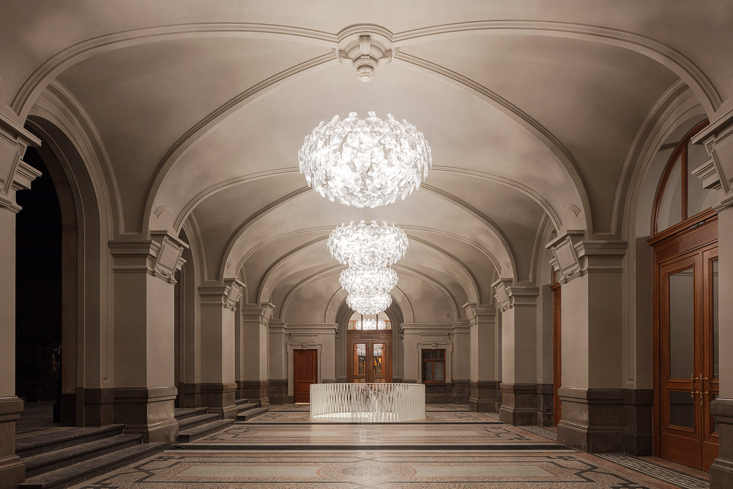 Neoclassical entrance hall of Royal Museum of Fine Arts Antwerp
