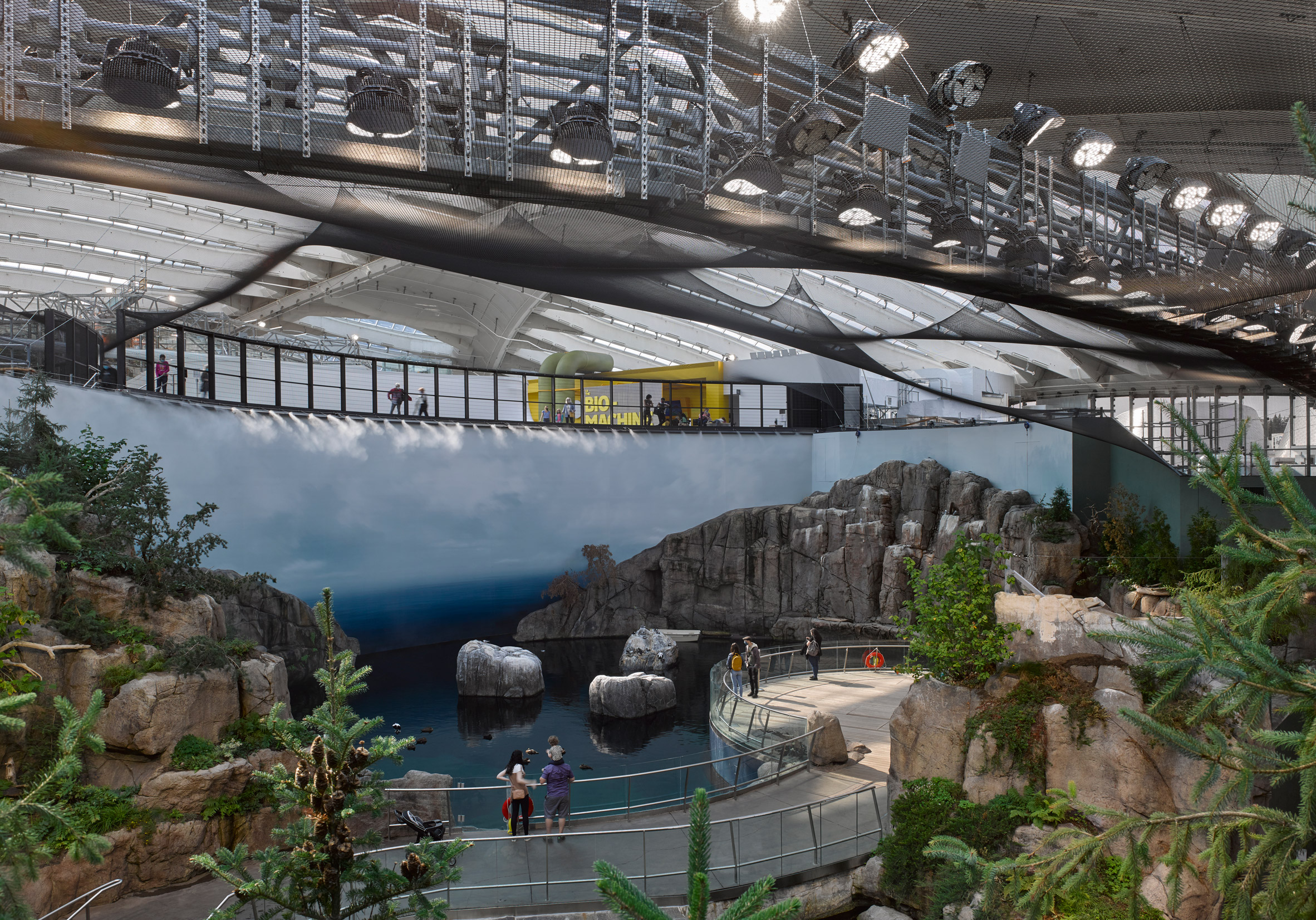 Nature exhibits inside the Montreal Biodome