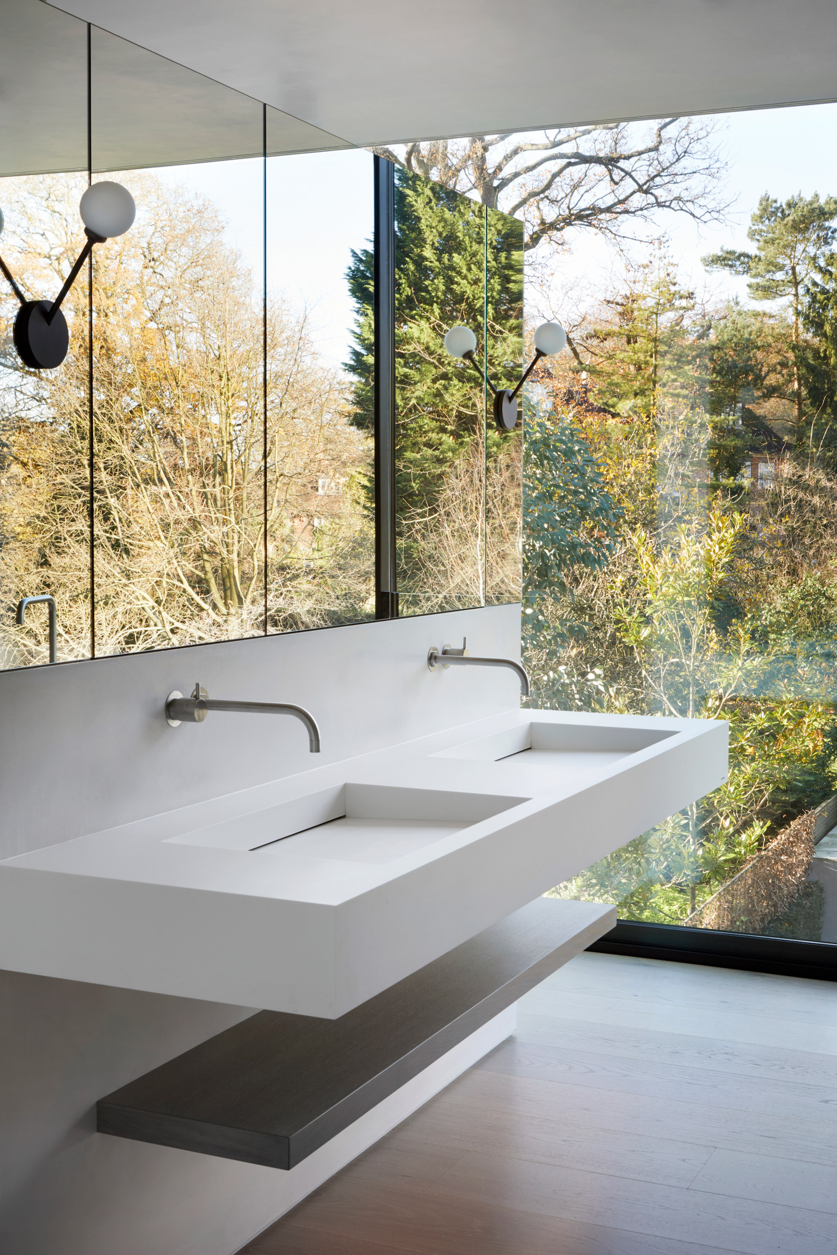 spa-like bathroom in Kenwood Lee House by Cousins & Cousins