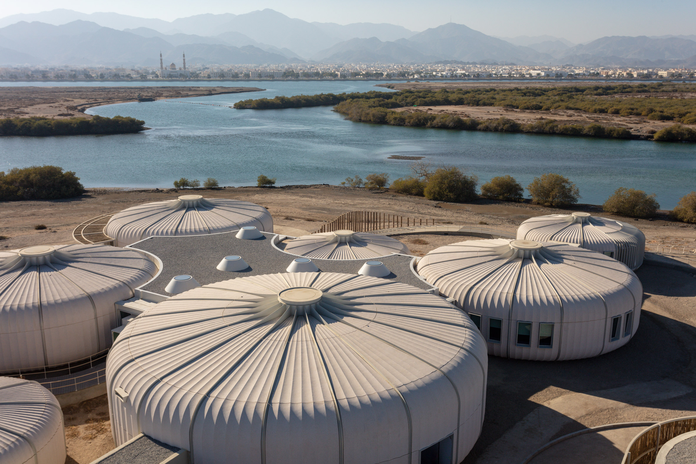 Concrete pods in Sharjah