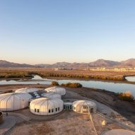 Hopkins Architects creates cluster of shell-like pods for turtle sanctuary on Sharjah coast