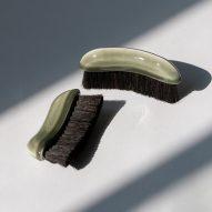 Green brushes