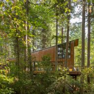 Corten steel clads Little House/Big Shed in Washington by David Van Galen
