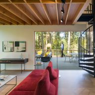The open-plan living space