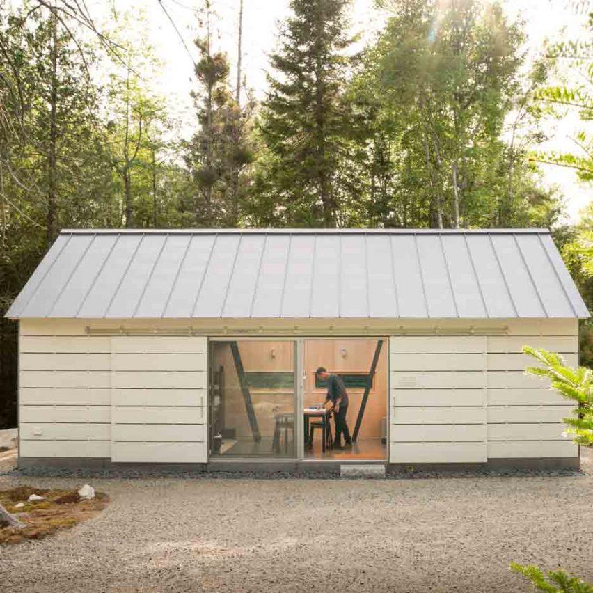 Maine studio 30X40 Design Workshop builds own home office