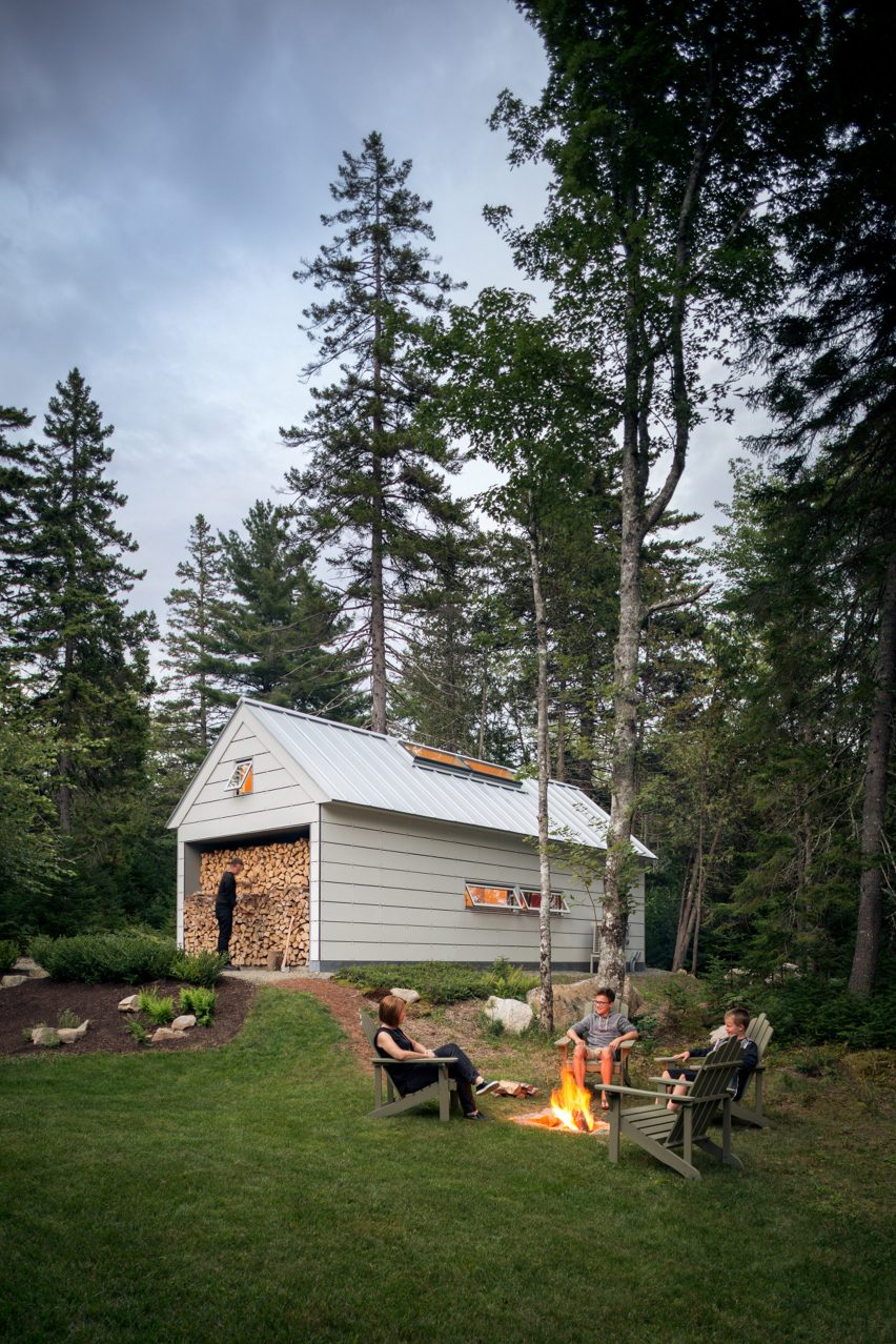 Long Studio exterior shot in Maine