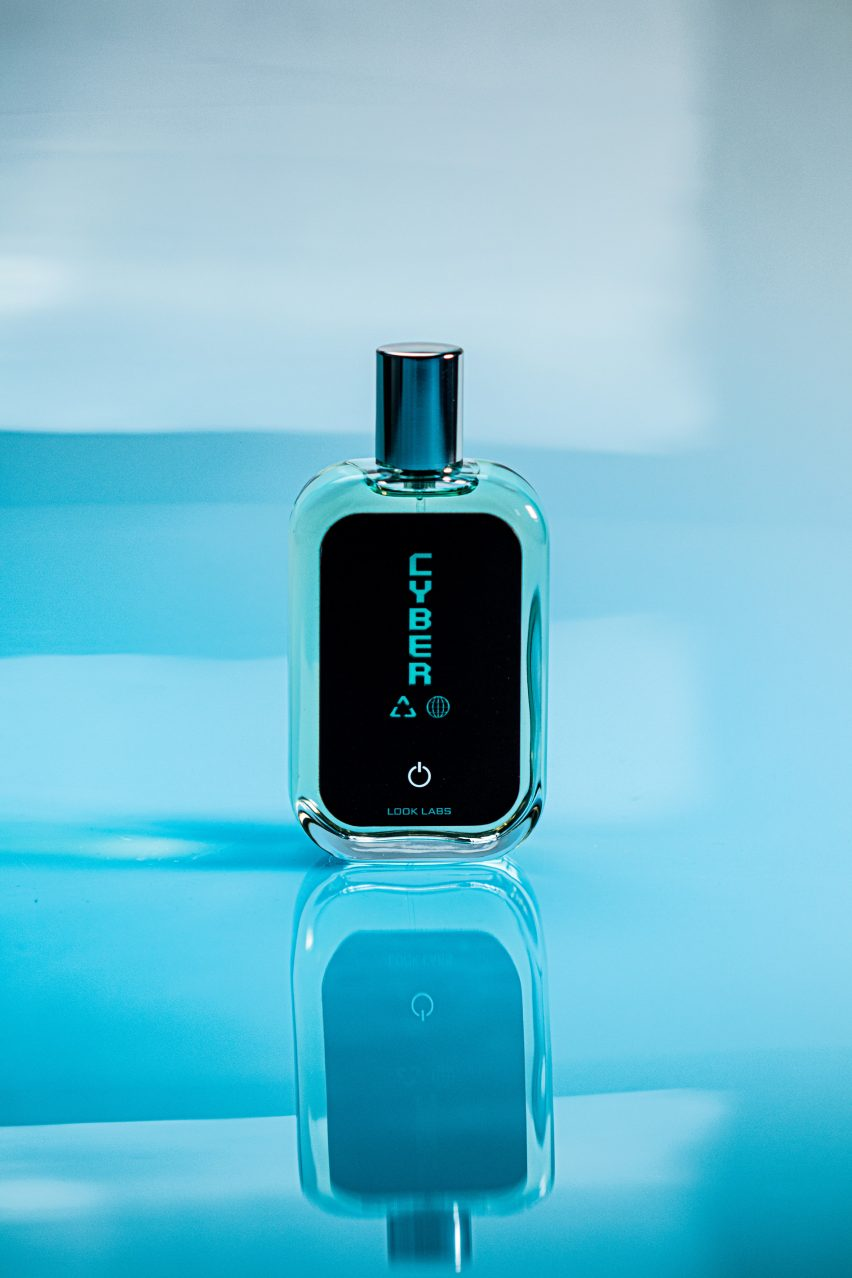 The perfume is named Cyber eau de Parfam by Look Labs