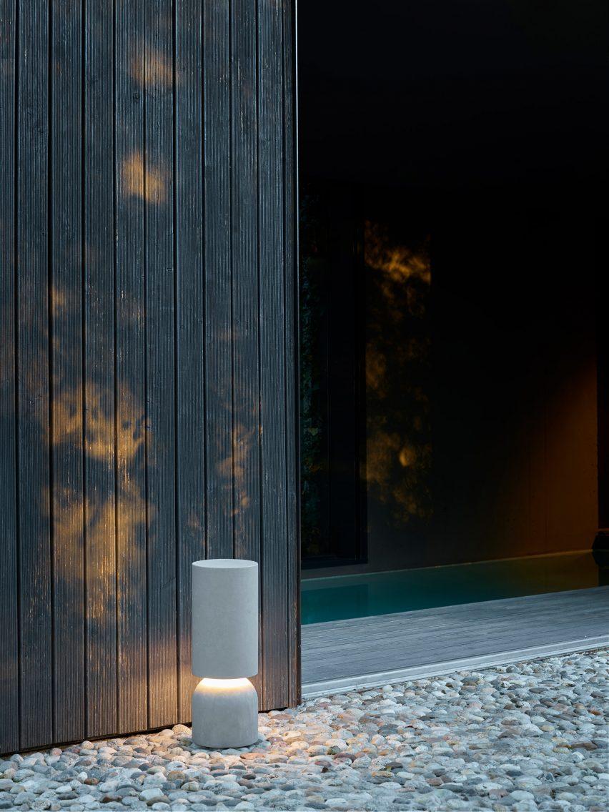 Nui bollard outdoor light by Luceplan
