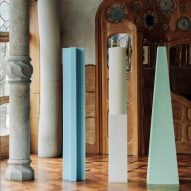 Max Enrich sculpts lamps from upholstery foam for Gaudí's Casa Batlló