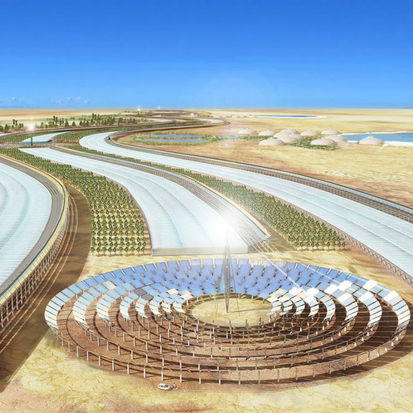 A visual of the Sahara Forest Project by Exploration Architecture