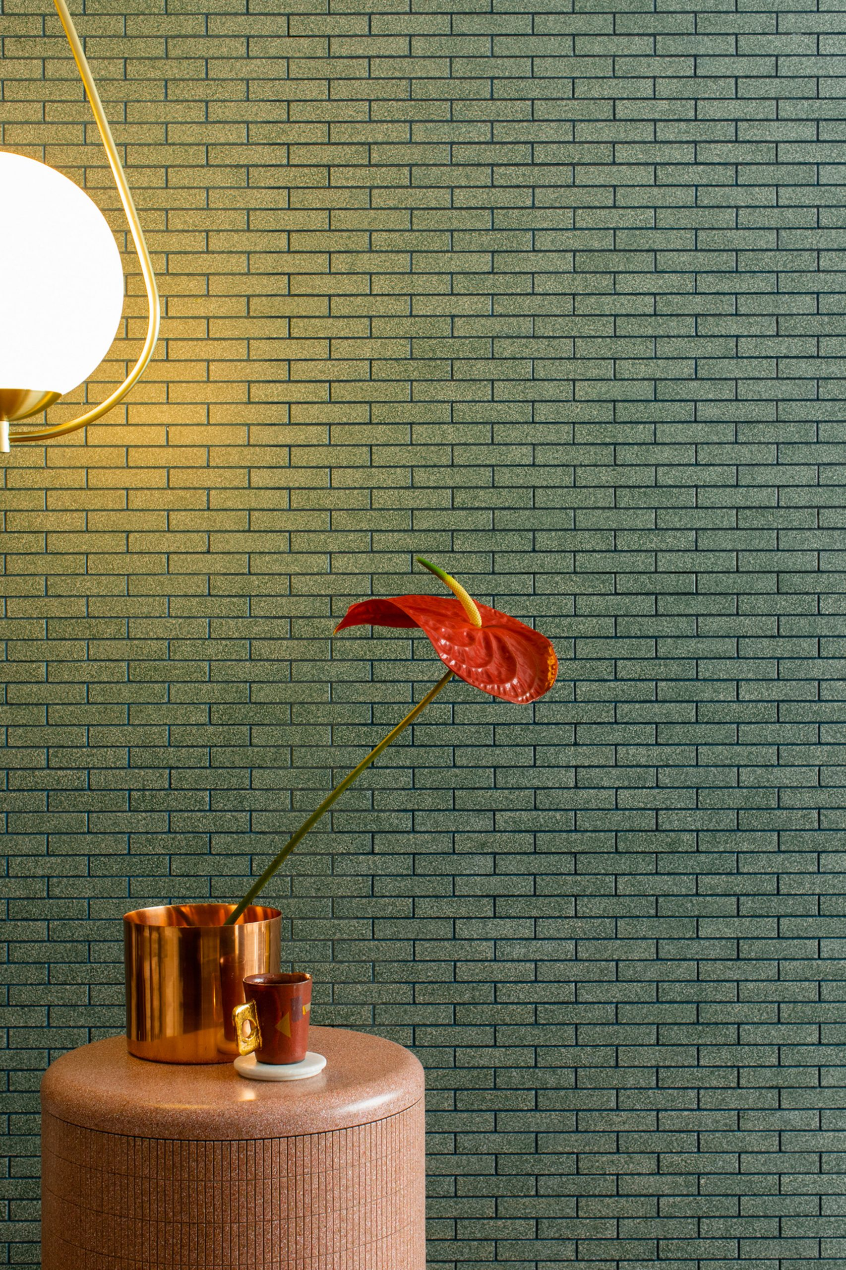 CArrelé tiles in green