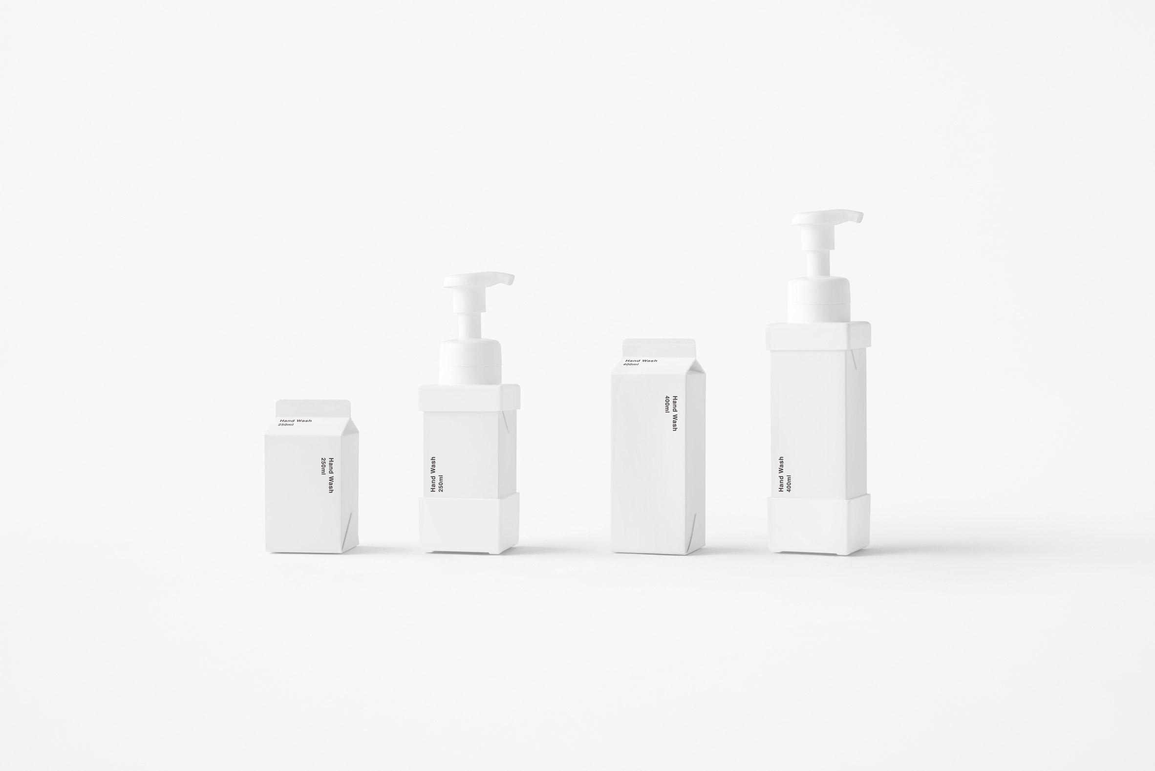 Nendo announces replaceable soap dispensers that look like milk cartons