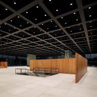 A gallery interior by Mies van der Rohe