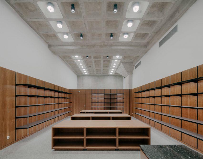 A shop inside Neue Nationalgalerie