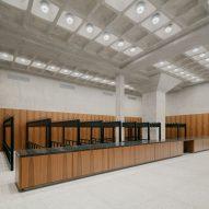 A museum cloakroom