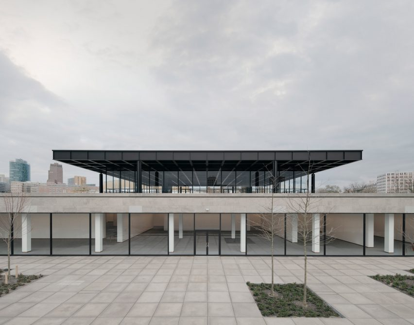 The refurbished exterior of Neue Nationalgalerie