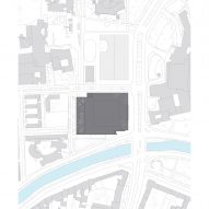 The site plan for the Neue Nationalgalerie