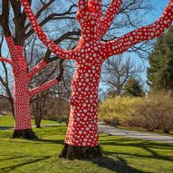 Yayoi Kusama wraps New York Botanical Garden trees in polka dots