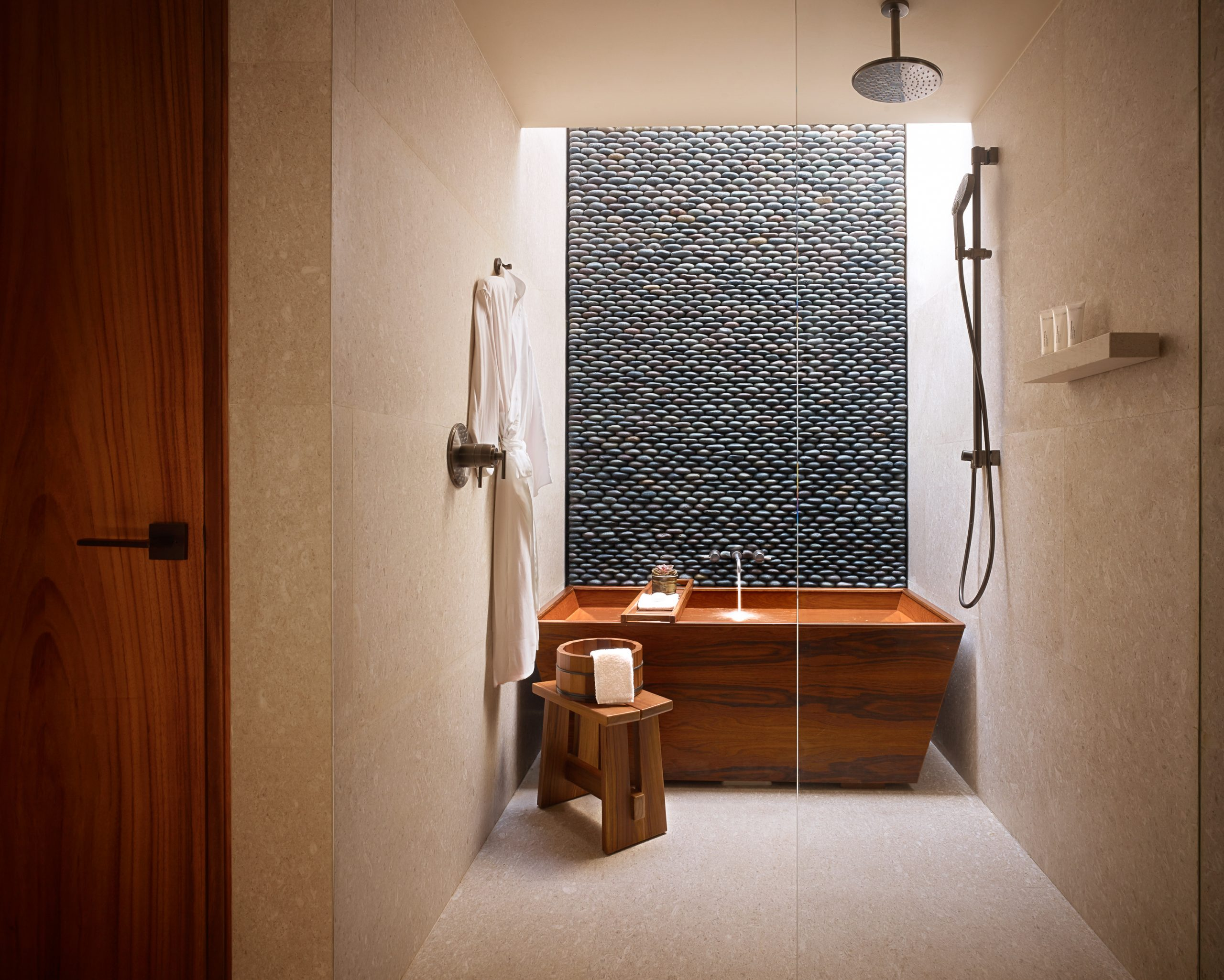 Japanese informed bathroom at Nobu Hotel by WATG and Studio PCH
