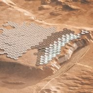 "Abiboo envisions cliff-face city as ""future capital of Mars"""