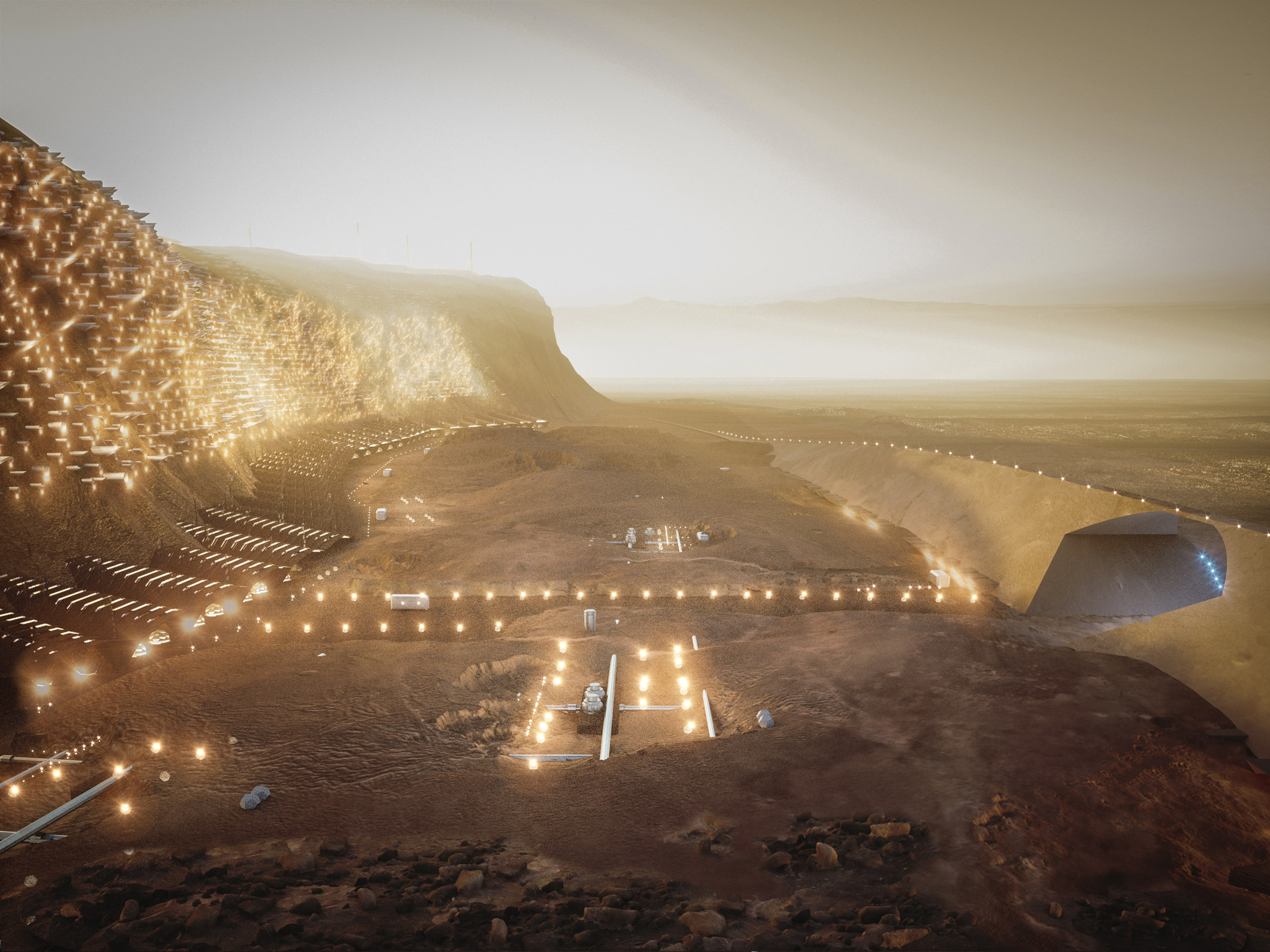 Mars city Nüwa would be built into a cliff