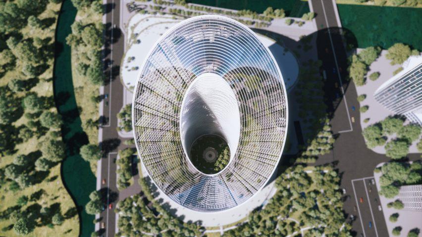 O-shaped skyscraper for OPPO