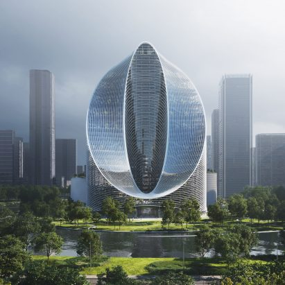 O-Tower, infinity loop skyscraper by BIG in Hangzhou