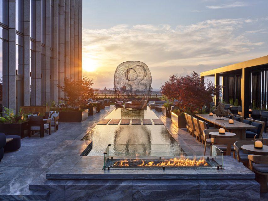 Equinox Hotel roof garden