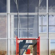 The glazed exterior of the Paddenbroek Education Centre