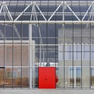 "Steel-and-glass ""greenhouse"" envelops existing buildings at Paddenbroek Education Centre"
