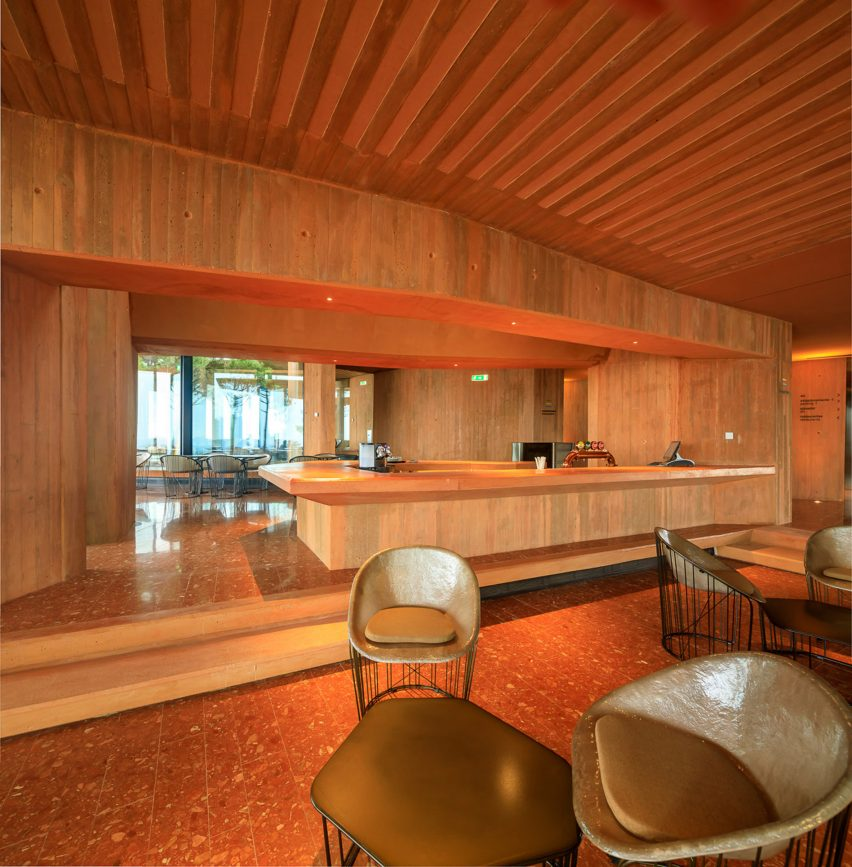 Canopy of Palmares Clubhouse by RCR Arquitectes